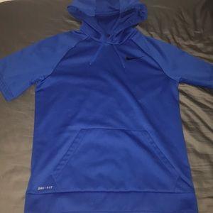 Nike short sleeved hoodie
